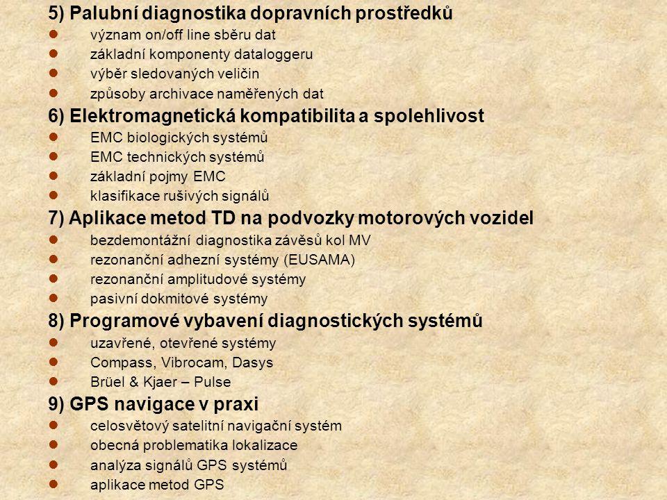 5) Palubní diagnostika dopravních prostředků