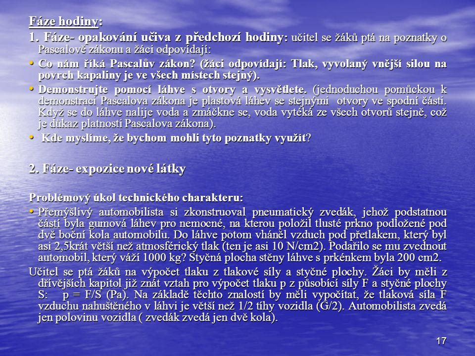 2. Fáze- expozice nové látky