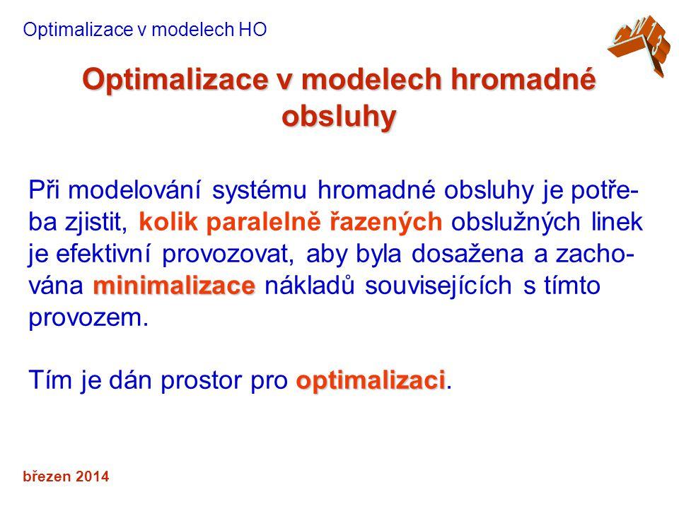 Optimalizace v modelech hromadné obsluhy