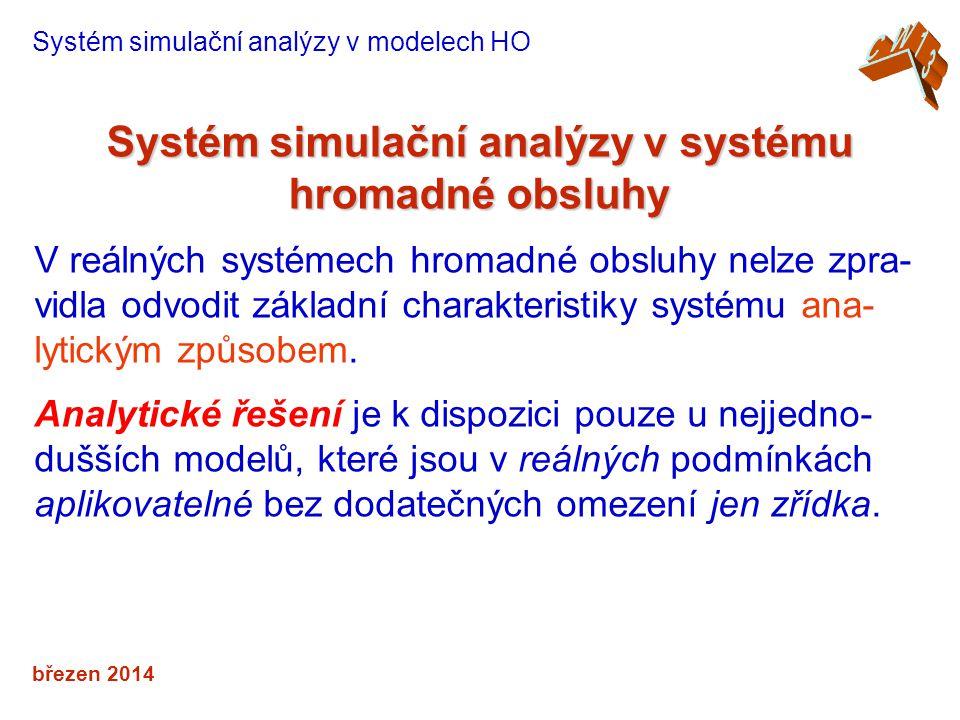 Systém simulační analýzy v systému hromadné obsluhy