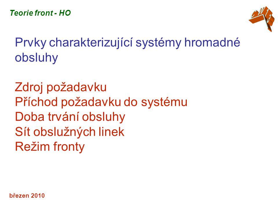 Prvky charakterizující systémy hromadné obsluhy