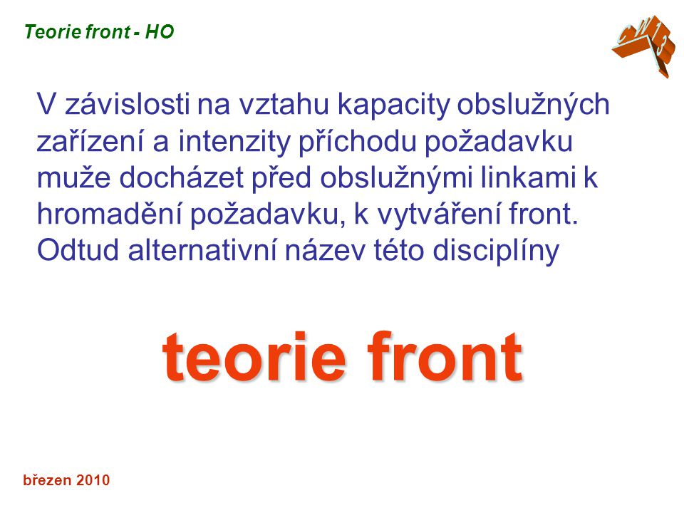CW13 Teorie front - HO.