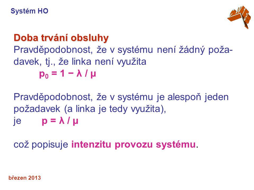 což popisuje intenzitu provozu systému.