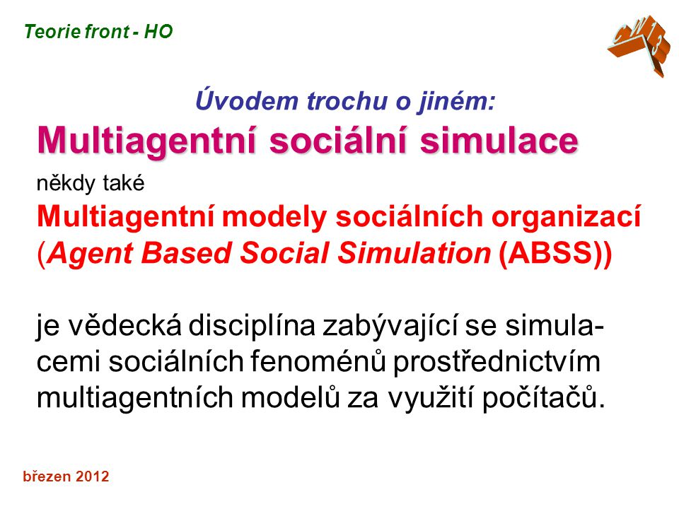 Multiagentní sociální simulace