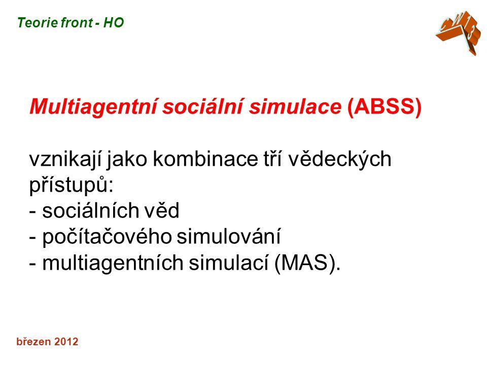 Multiagentní sociální simulace (ABSS)