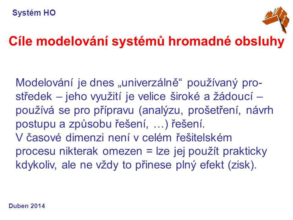 Cíle modelování systémů hromadné obsluhy