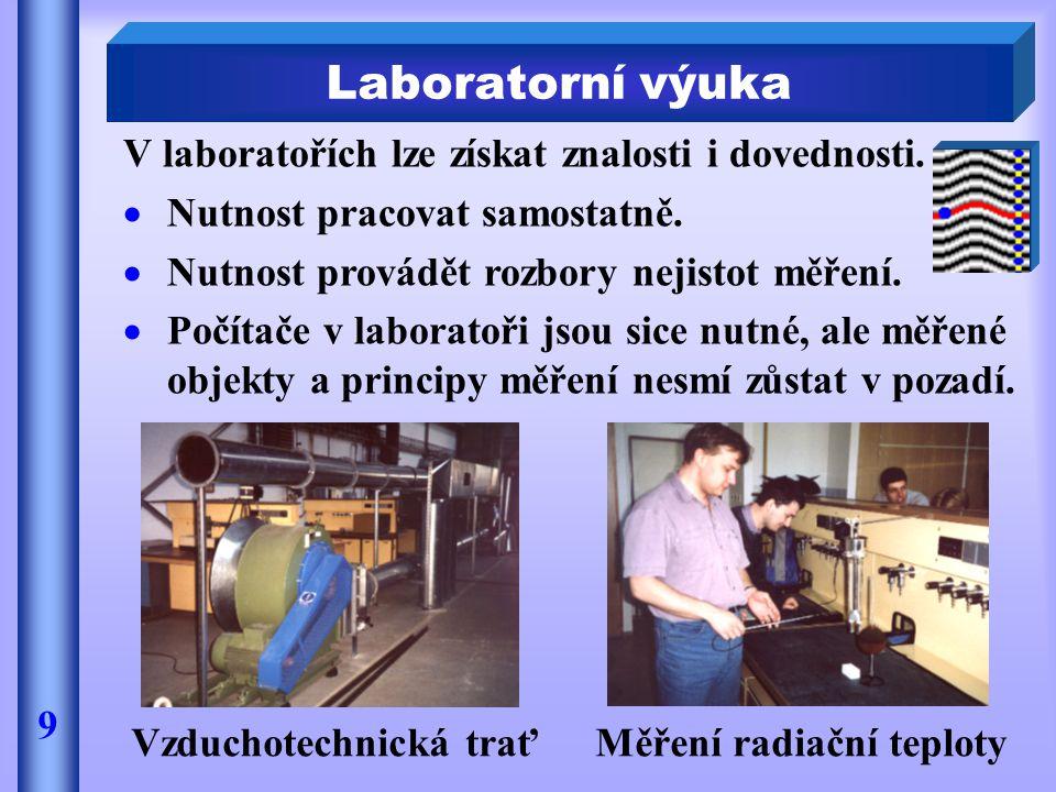 Vzduchotechnická trať Měření radiační teploty