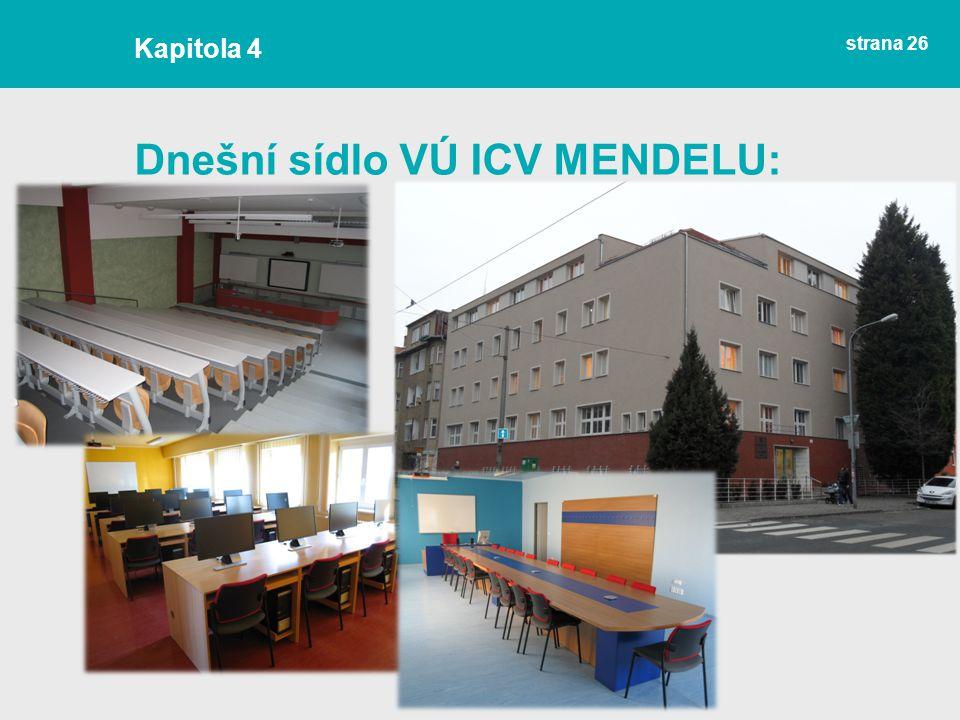 Dnešní sídlo VÚ ICV MENDELU: