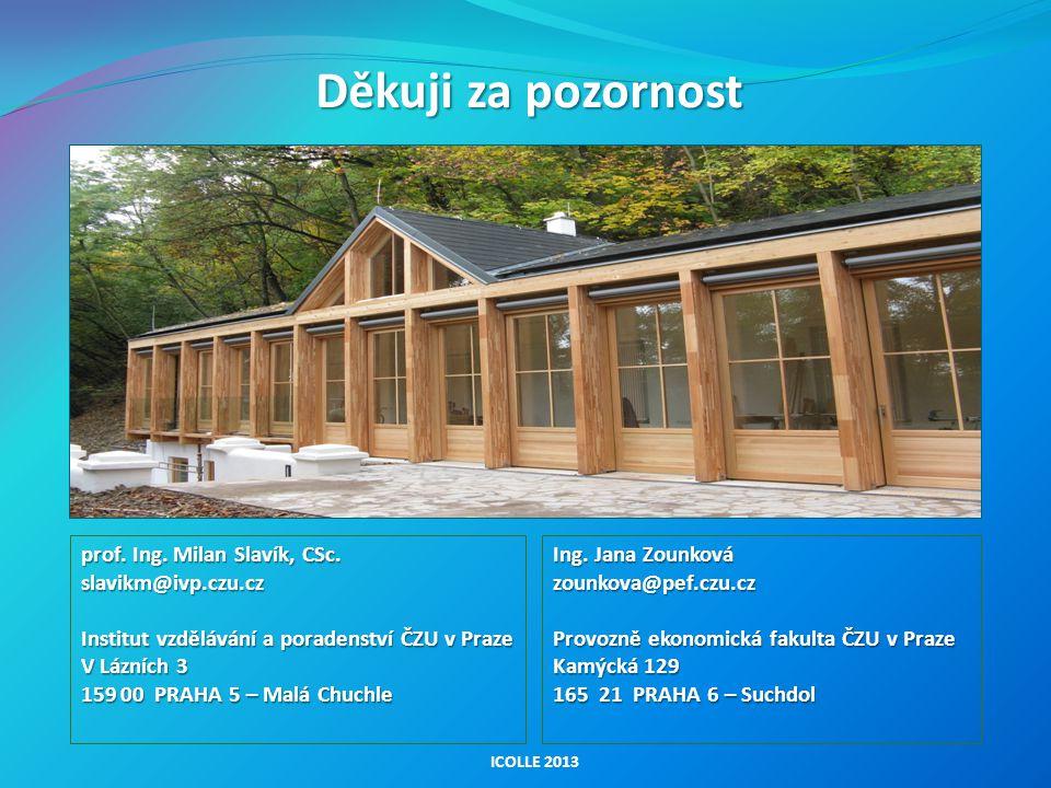 Děkuji za pozornost prof. Ing. Milan Slavík, CSc. slavikm@ivp.czu.cz