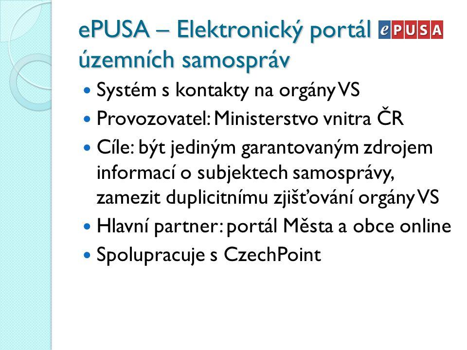 ePUSA – Elektronický portál územních samospráv