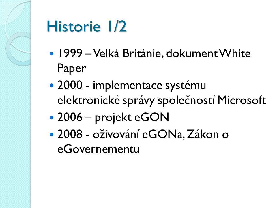 Historie 1/2 1999 – Velká Británie, dokument White Paper