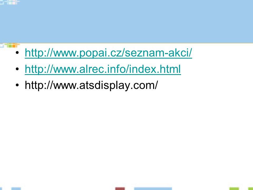 http://www.popai.cz/seznam-akci/ http://www.alrec.info/index.html http://www.atsdisplay.com/