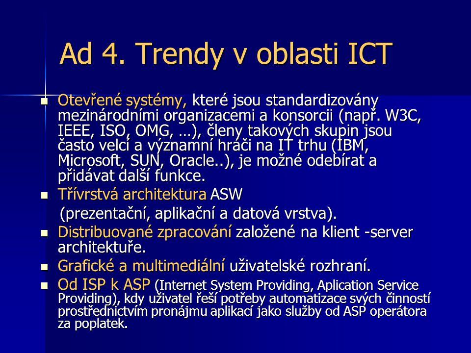 Ad 4. Trendy v oblasti ICT