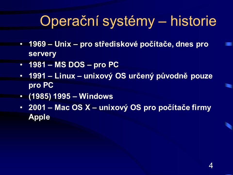 Operační systémy – historie