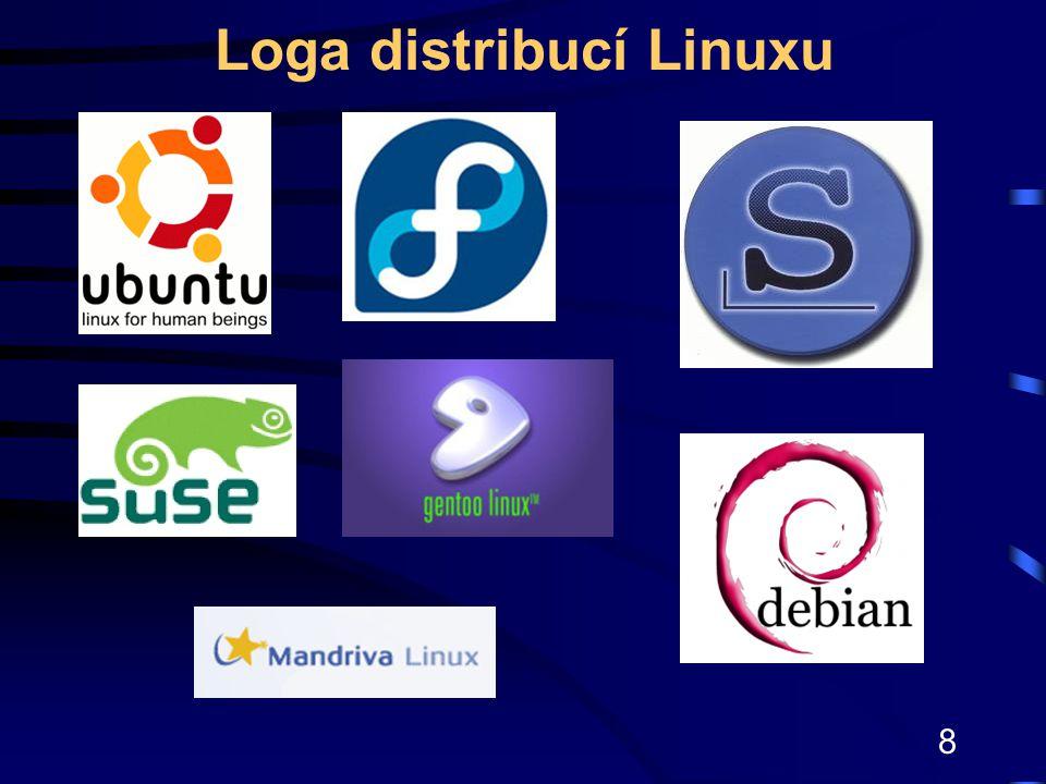 Loga distribucí Linuxu