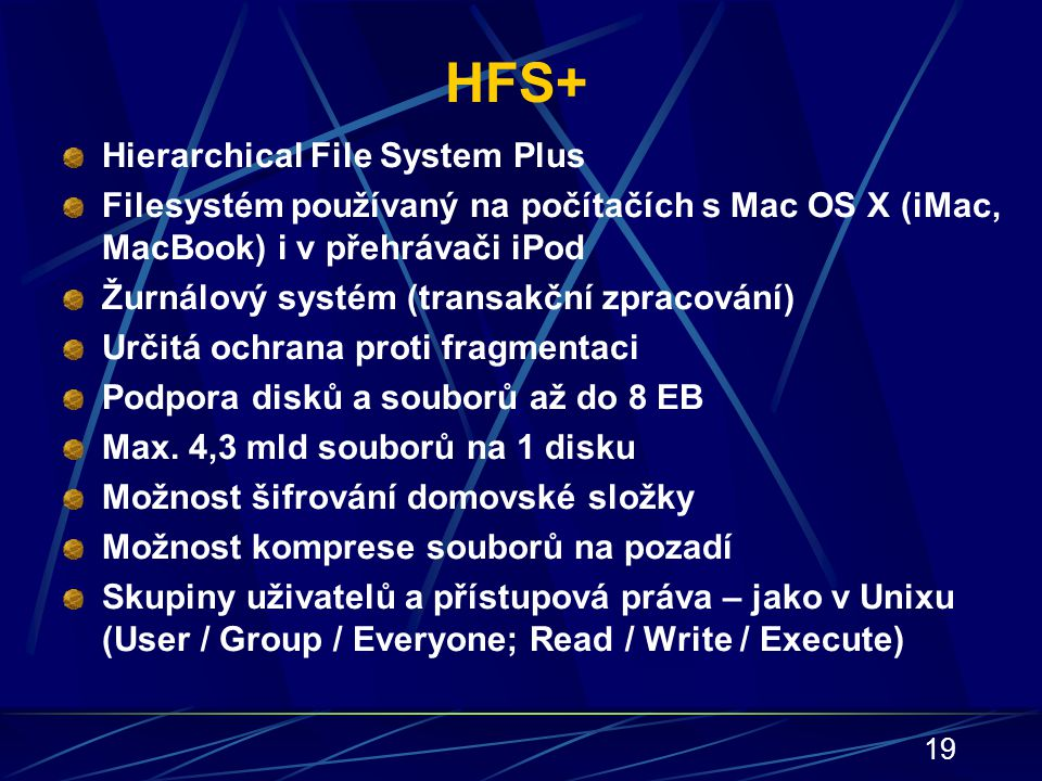 HFS+ Hierarchical File System Plus