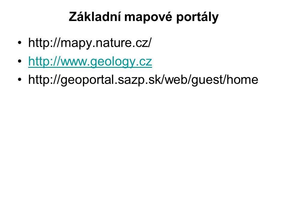 Základní mapové portály