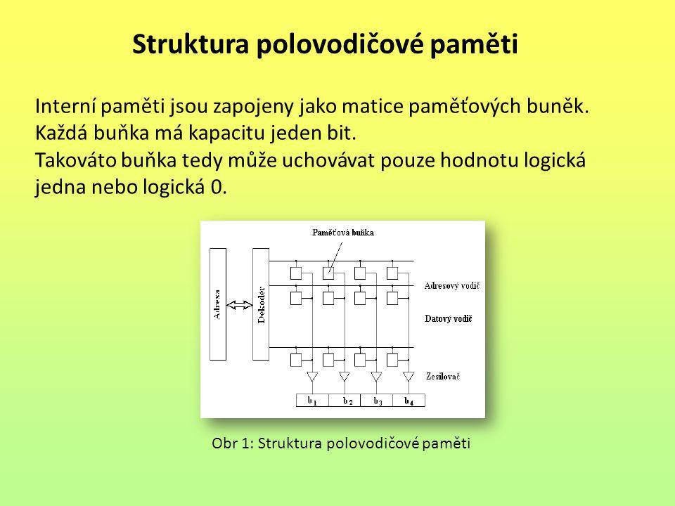 Struktura polovodičové paměti