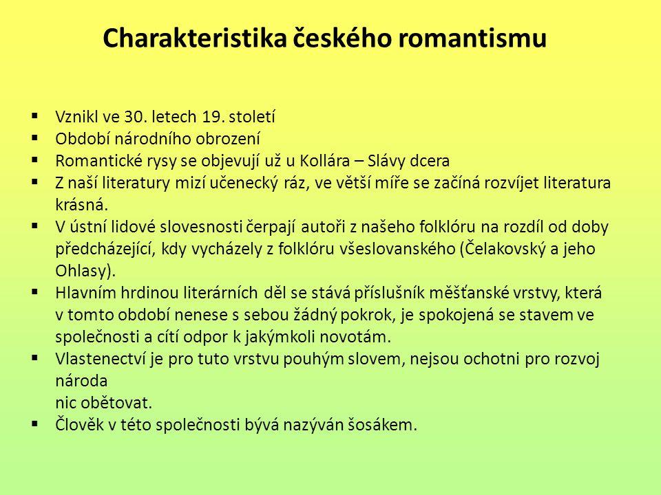 Charakteristika českého romantismu