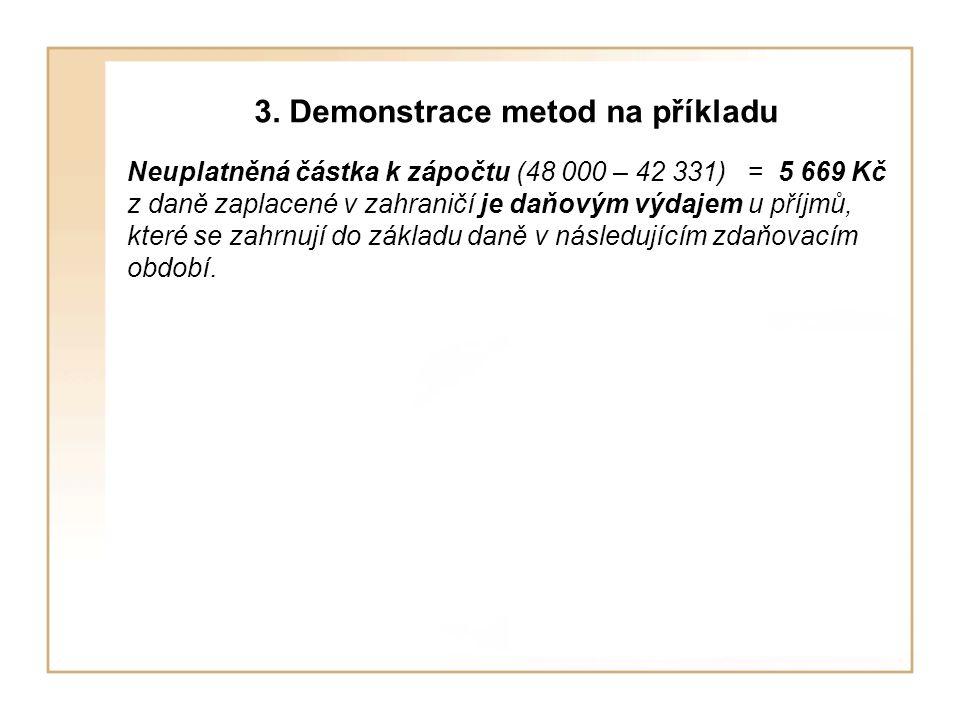 3. Demonstrace metod na příkladu