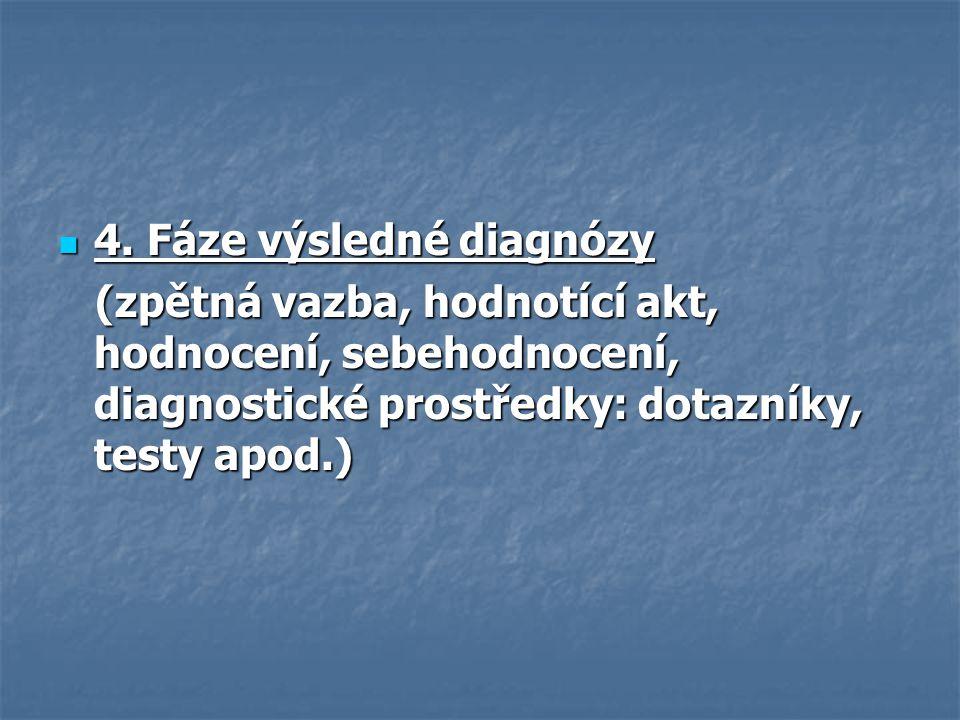 4. Fáze výsledné diagnózy