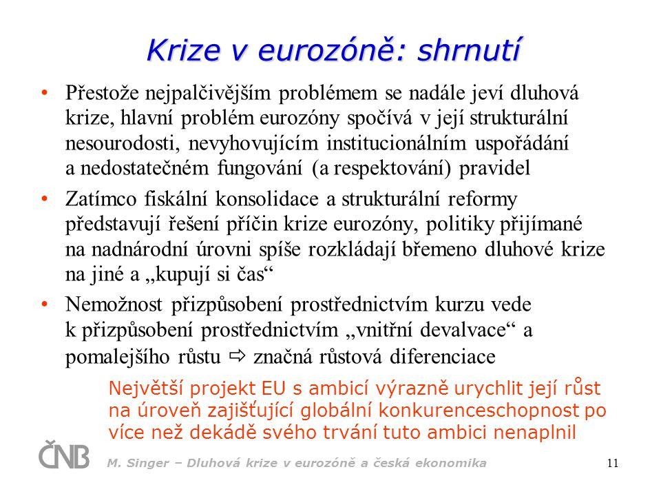 Krize v eurozóně: shrnutí