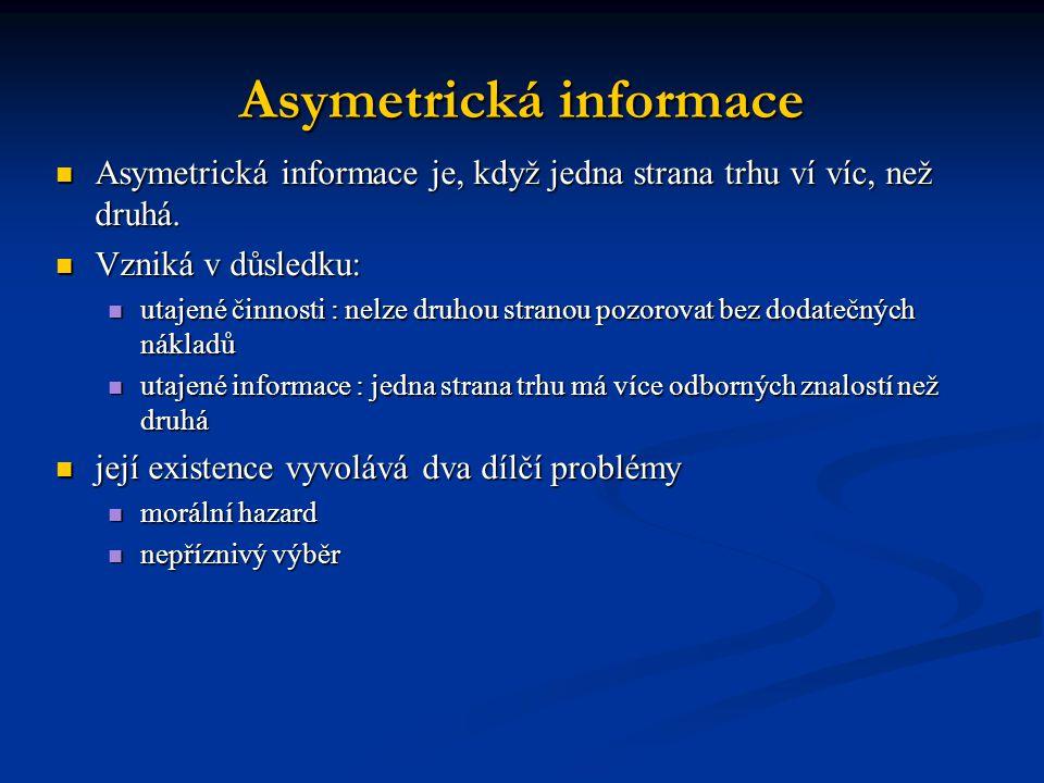 Asymetrická informace
