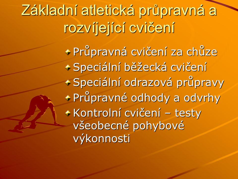 Základní atletická průpravná a rozvíjející cvičení