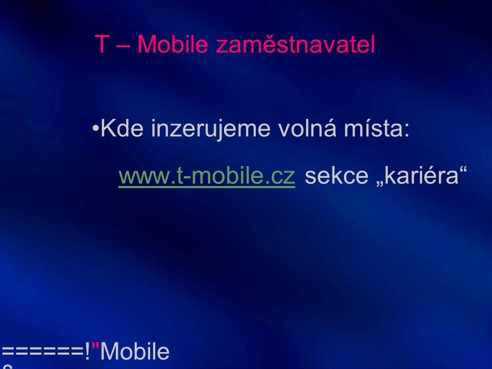 T – Mobile zaměstnavatel
