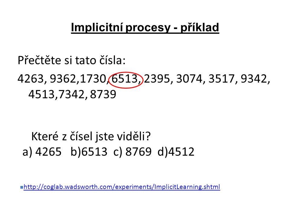 Implicitní procesy - příklad