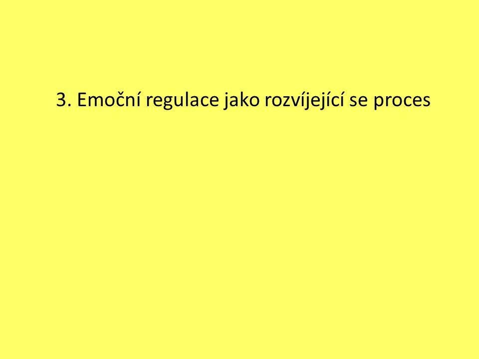 3. Emoční regulace jako rozvíjející se proces