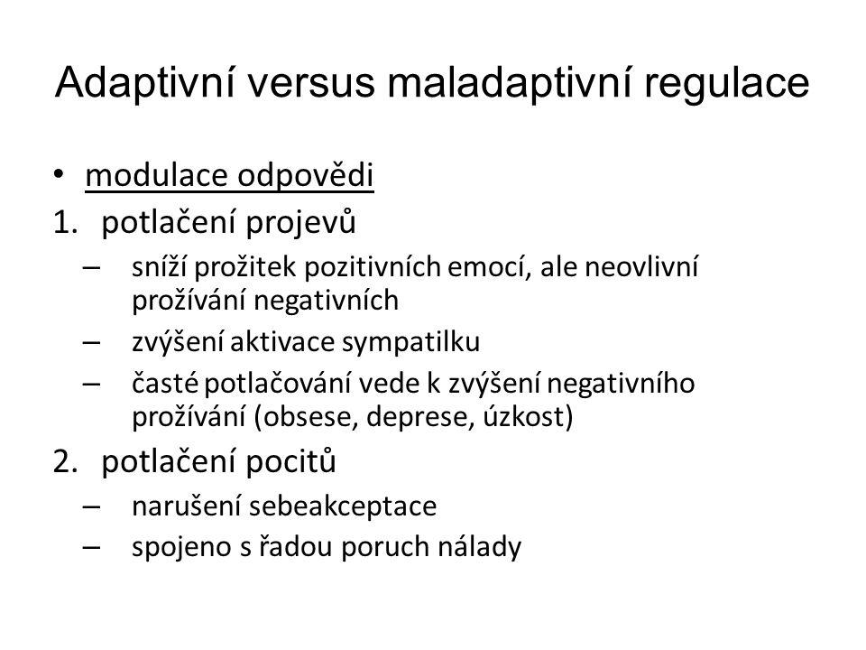 Adaptivní versus maladaptivní regulace