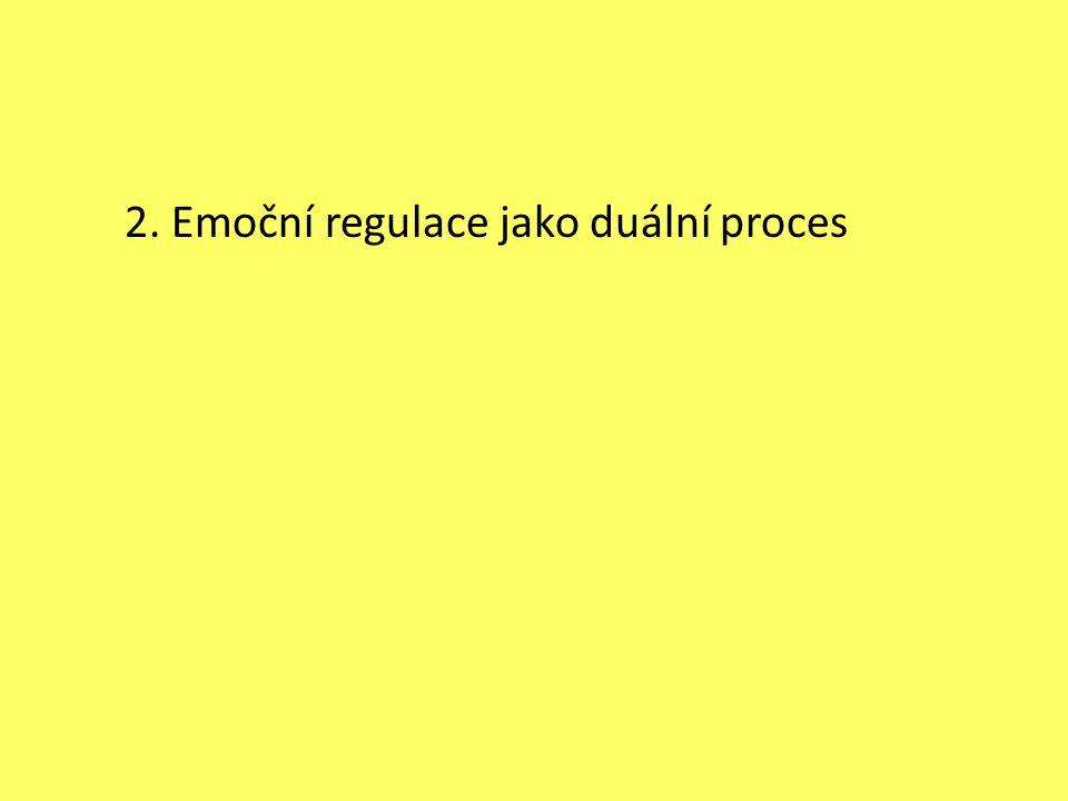2. Emoční regulace jako duální proces