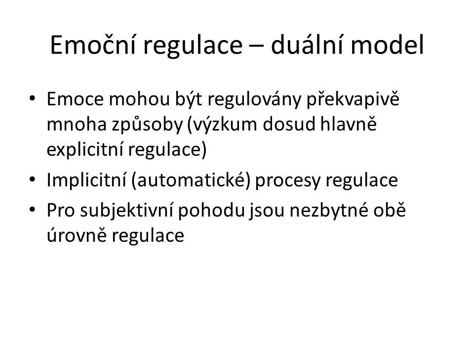Emoční regulace – duální model