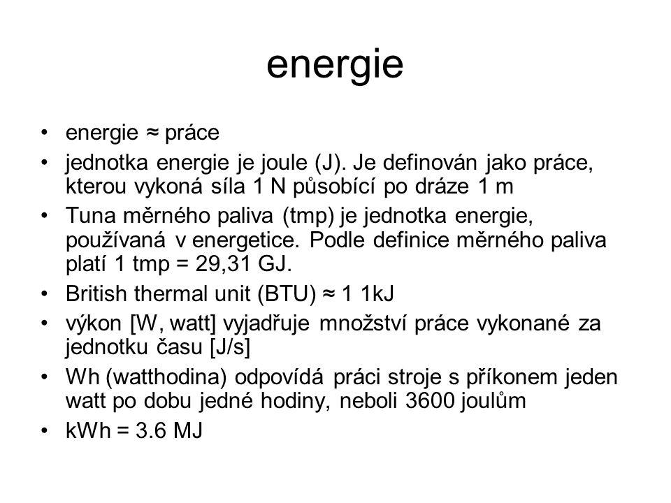 energie energie ≈ práce