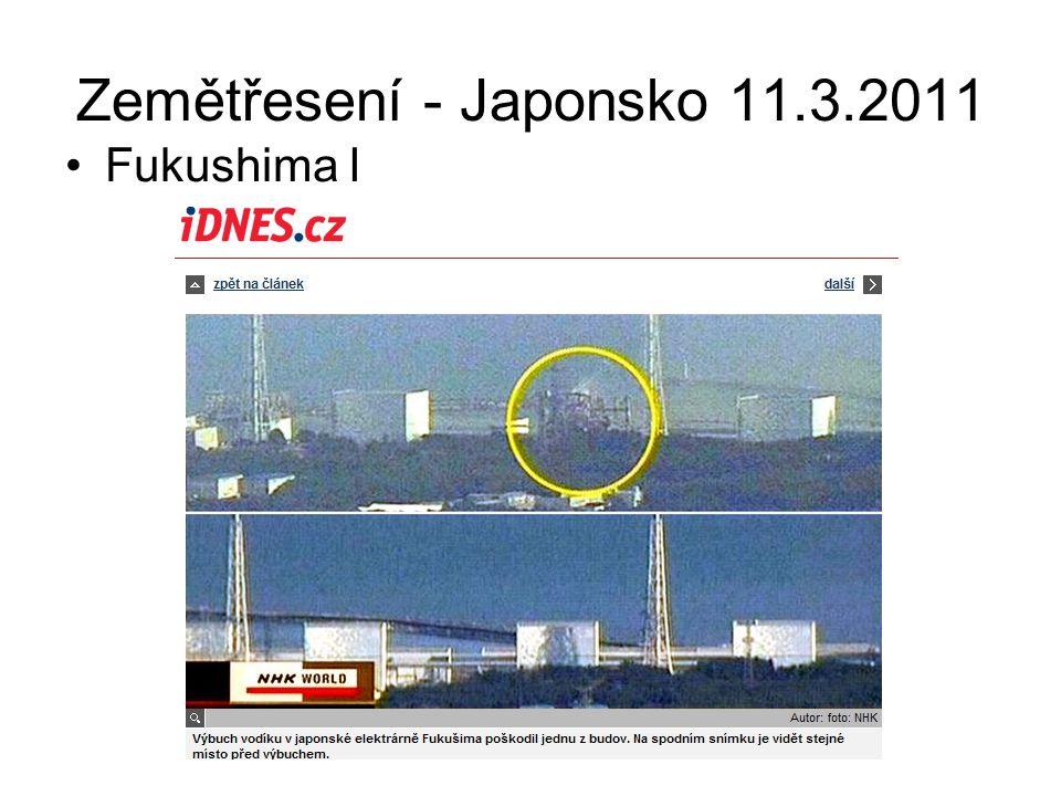 Zemětřesení - Japonsko 11.3.2011