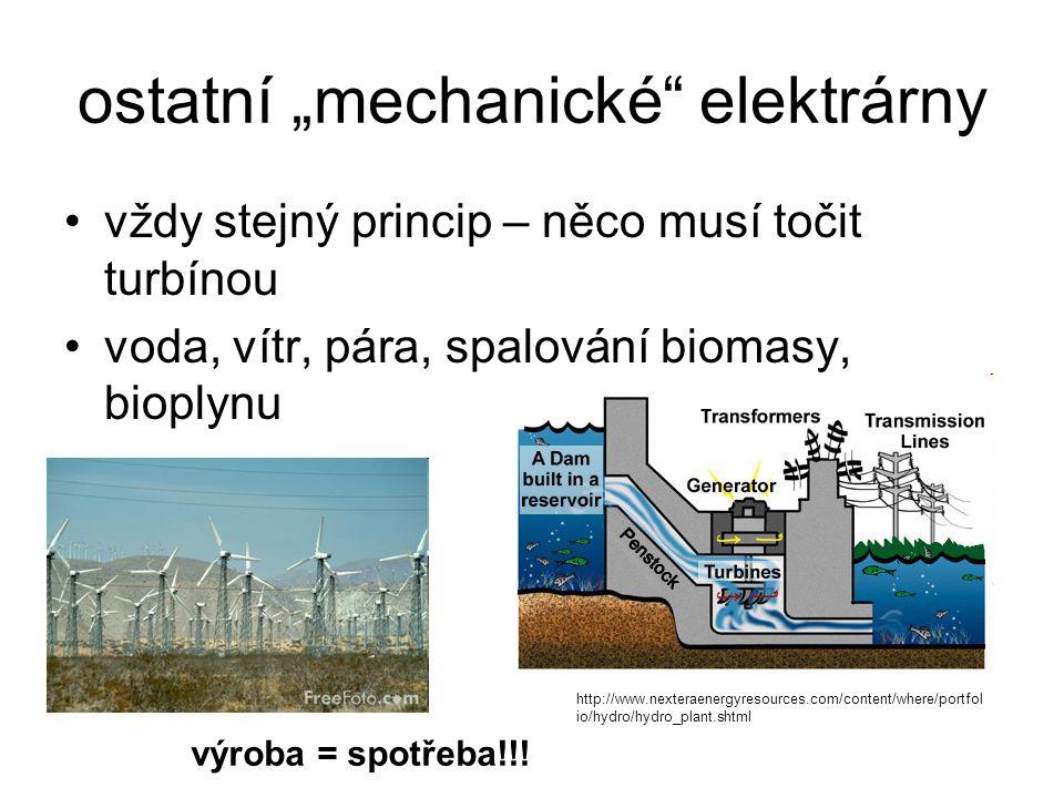 """ostatní """"mechanické elektrárny"""