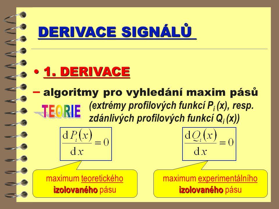 DERIVACE SIGNÁLŮ 1. DERIVACE