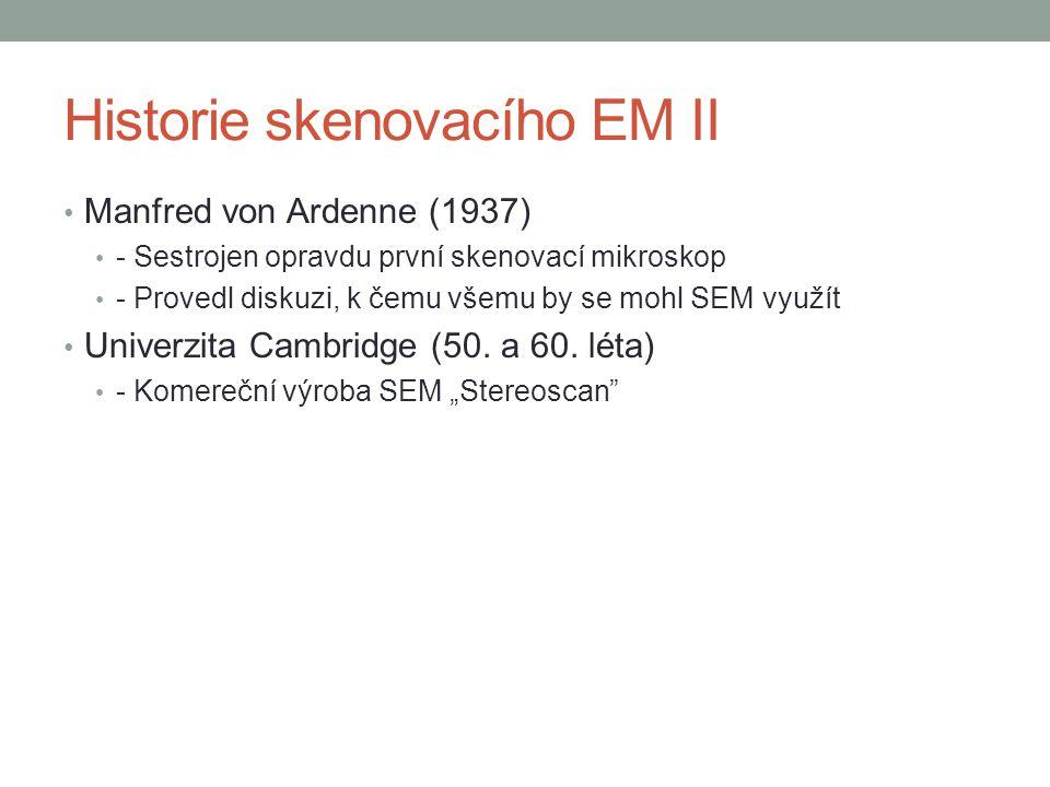 Historie skenovacího EM II
