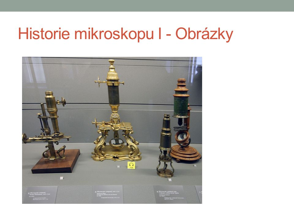Historie mikroskopu I - Obrázky