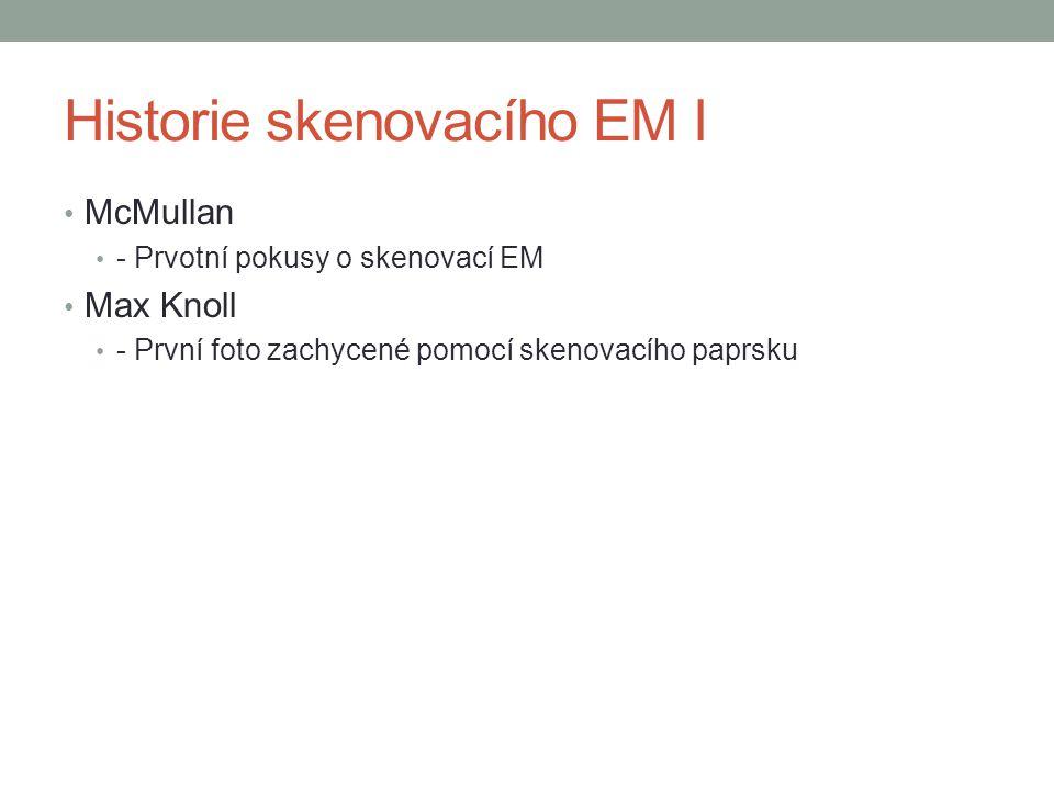 Historie skenovacího EM I