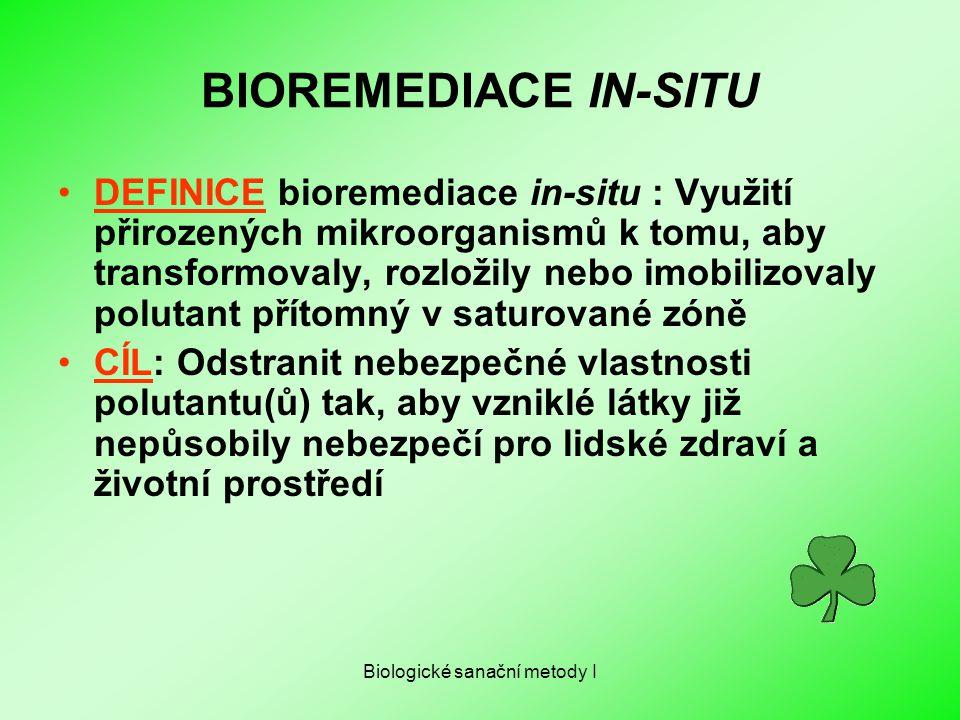 Biologické sanační metody I