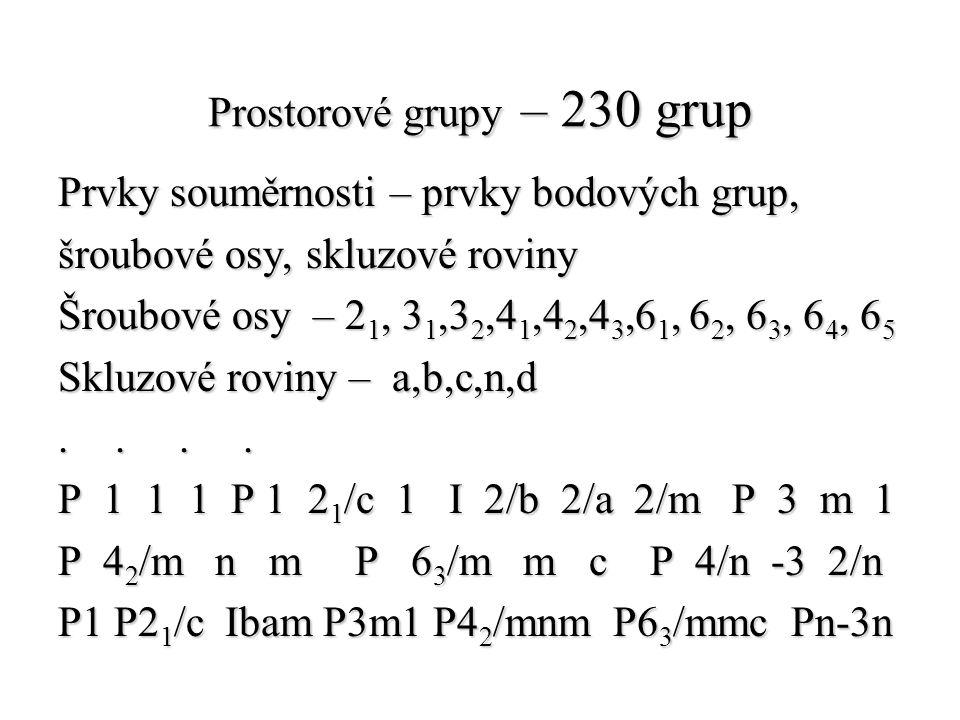 Prostorové grupy – 230 grup