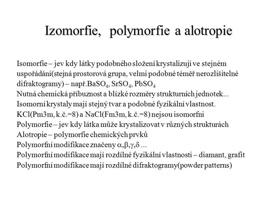 Izomorfie, polymorfie a alotropie