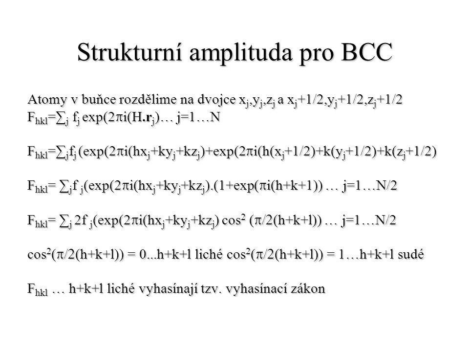 Strukturní amplituda pro BCC