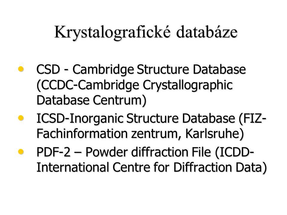 Krystalografické databáze