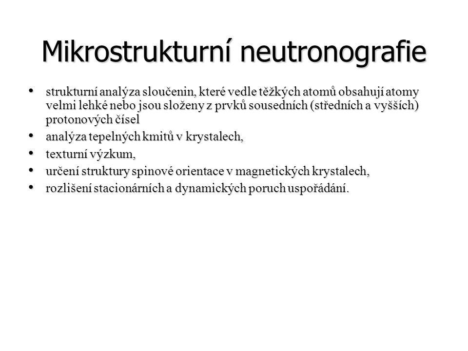 Mikrostrukturní neutronografie