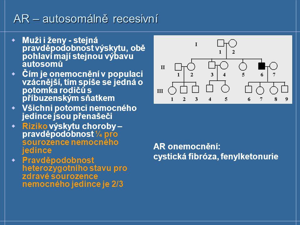 AR – autosomálně recesivní