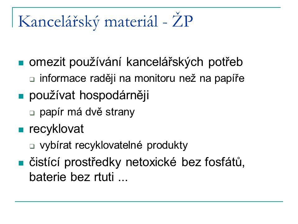 Kancelářský materiál - ŽP