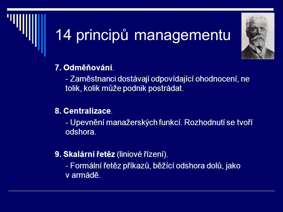 14 principů managementu 7. Odměňování.